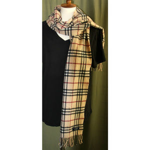 Authentic Burberry Iconic Wool Scarf